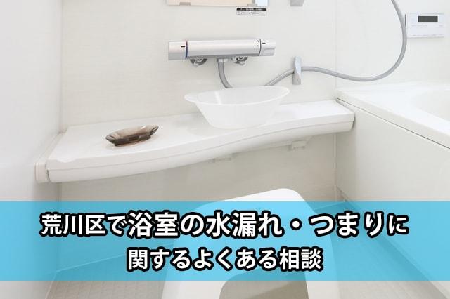 荒川区の浴室の水漏れ・つまり