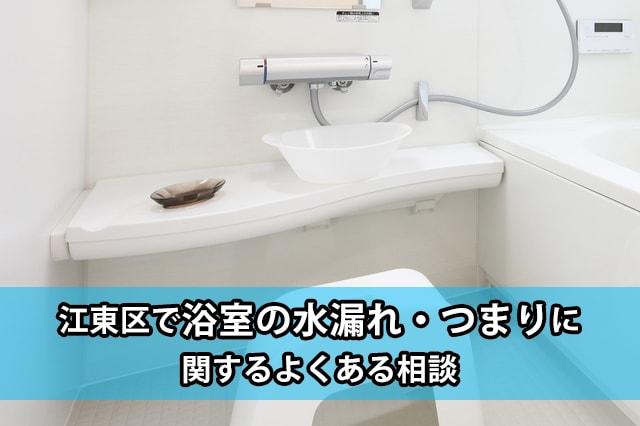 江東区の浴室の水漏れ・つまり