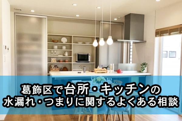 葛飾区で台所・キッチンの水漏れ・つまりに関するよくある相談
