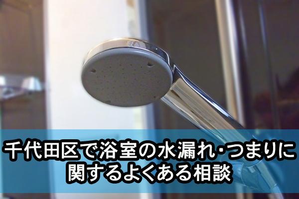 千代田区で浴室の水漏れ・つまりに関するよくある相談