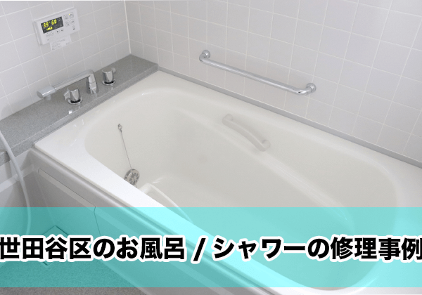 世田谷のお風呂・シャワーの修理事例