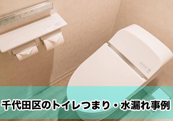 千代田区のトイレつまり・水漏れ事例