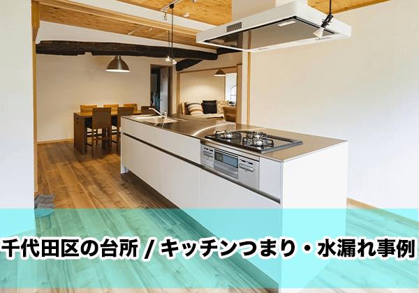 千代田区の台所/キッチンつまり・水漏れ事例