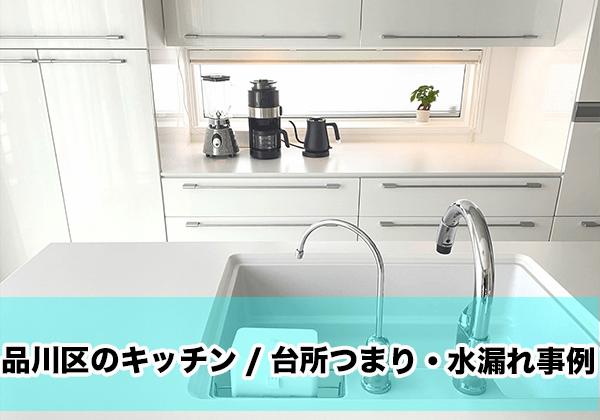 品川区のキッチン/台所つまり・水漏れ事例